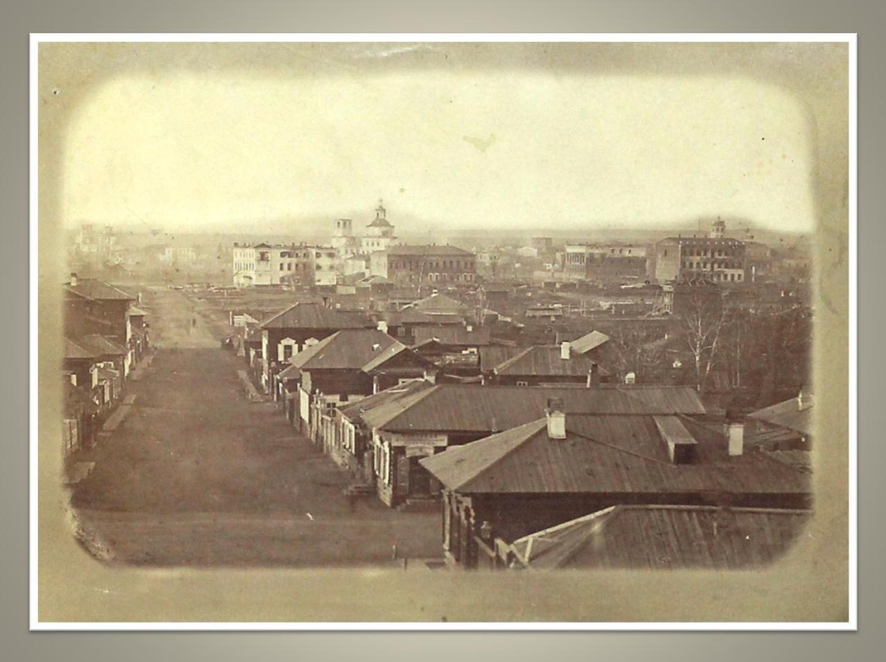 13. Вид сгоревшей части города 22-24 июня 1879 г. от 3-й Солдатской в сторону р. Ушаковки. 1879