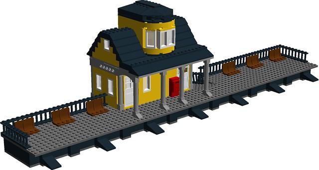1870's Western railroad station - track side