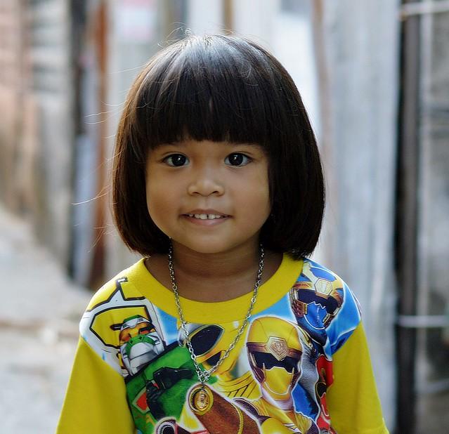 cute girl in the street