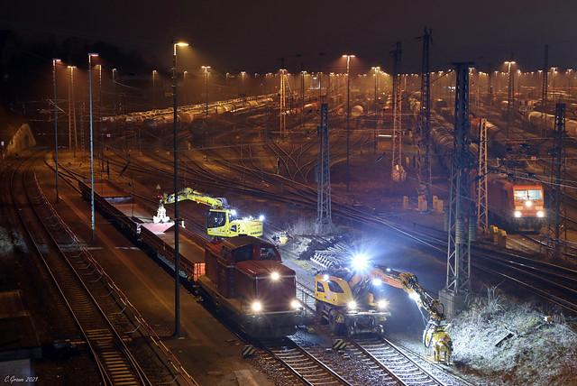 EfW 211 051-8 im Baustelleneinsatz in Hagen-Vorhalle (EHGV), 01.03.2021
