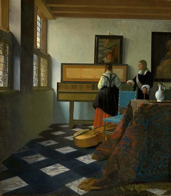 Ян Вермеер – Урок музыки 1662-65