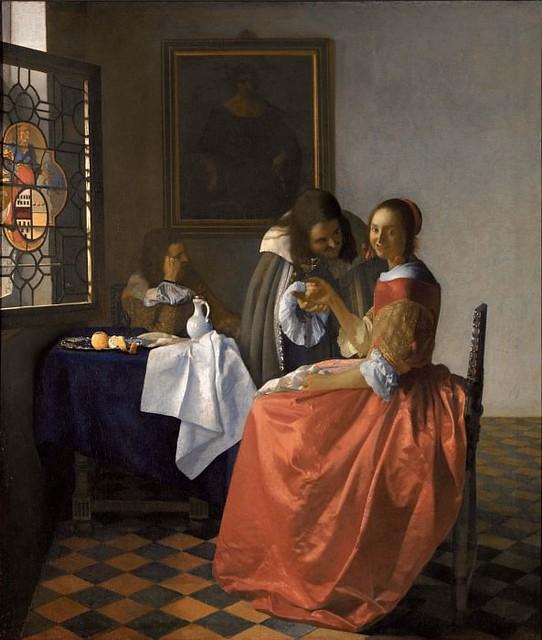 Ян Вермеер – Дама с бокалом вина 1658-60