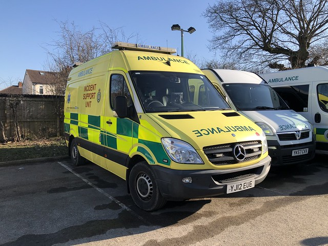 Yorkshire Ambulance Service 1093 YJ12EUE Mercedes Benz Sprinter 313CDi with a O&H Incident Support Unit  conversion.  Seen at Harrogate Ambulance Station 28/02/2020.