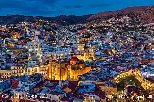 Twilight in Guanajuato, Mexico