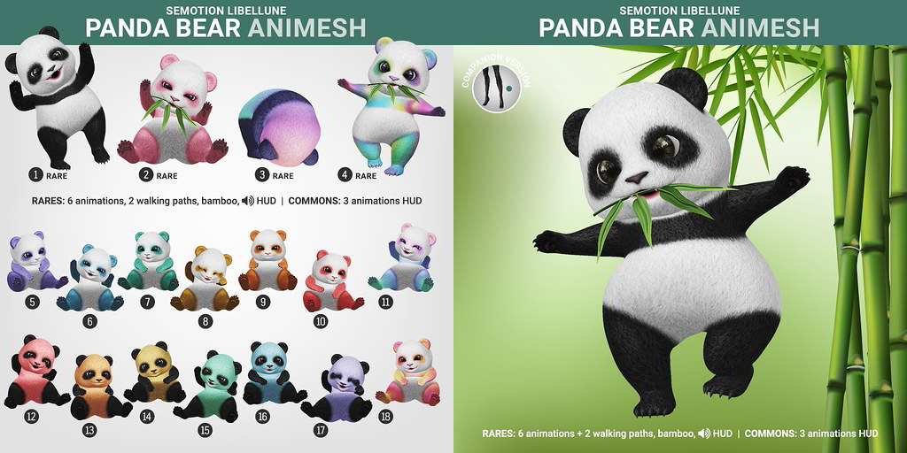 SEmotion Libellune Panda Bear Animesh