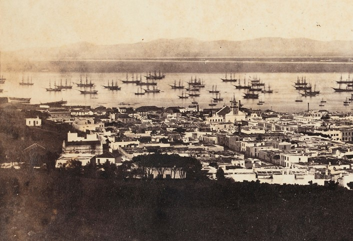 Table Bay, Cape Town South Africa, c. 1861,