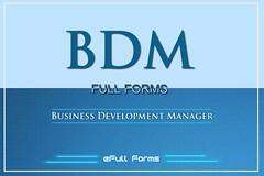 BDM Full Form