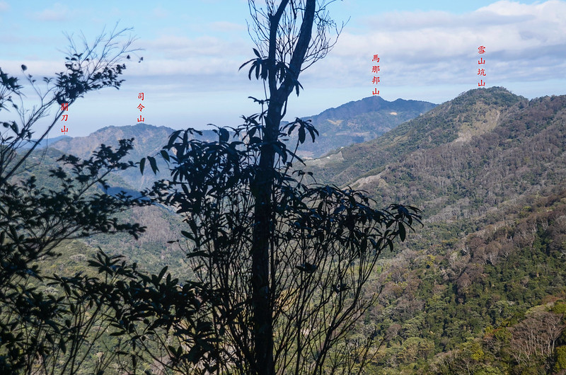 百川山1290觀景台西北望群山 1-1