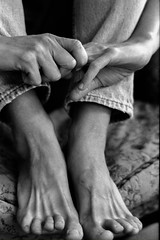 Hands and Feet of a Masseuse
