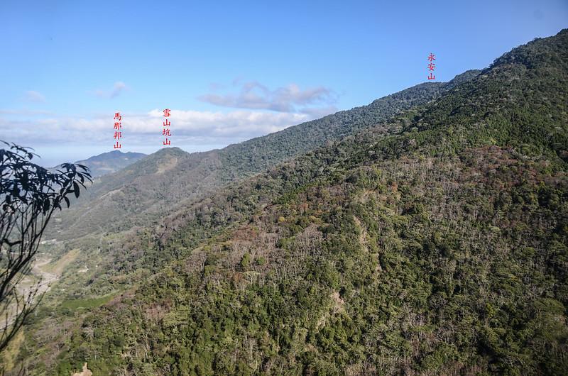 百川山1290觀景台北望群山 1-1