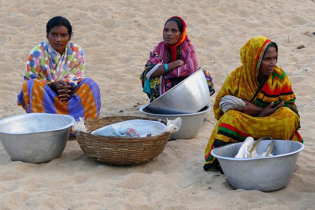Petit matin sur la plage de Puri