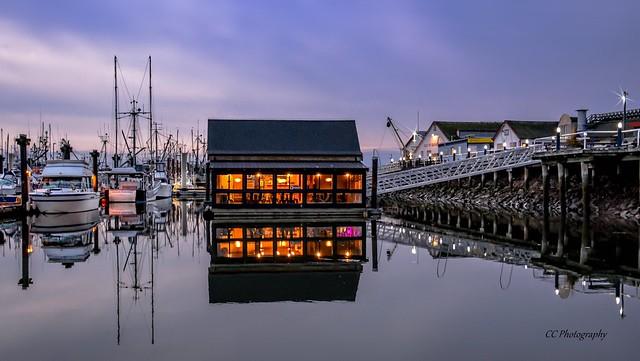 Incandescence and Twilght ** Steveston Harbour, British Columbia