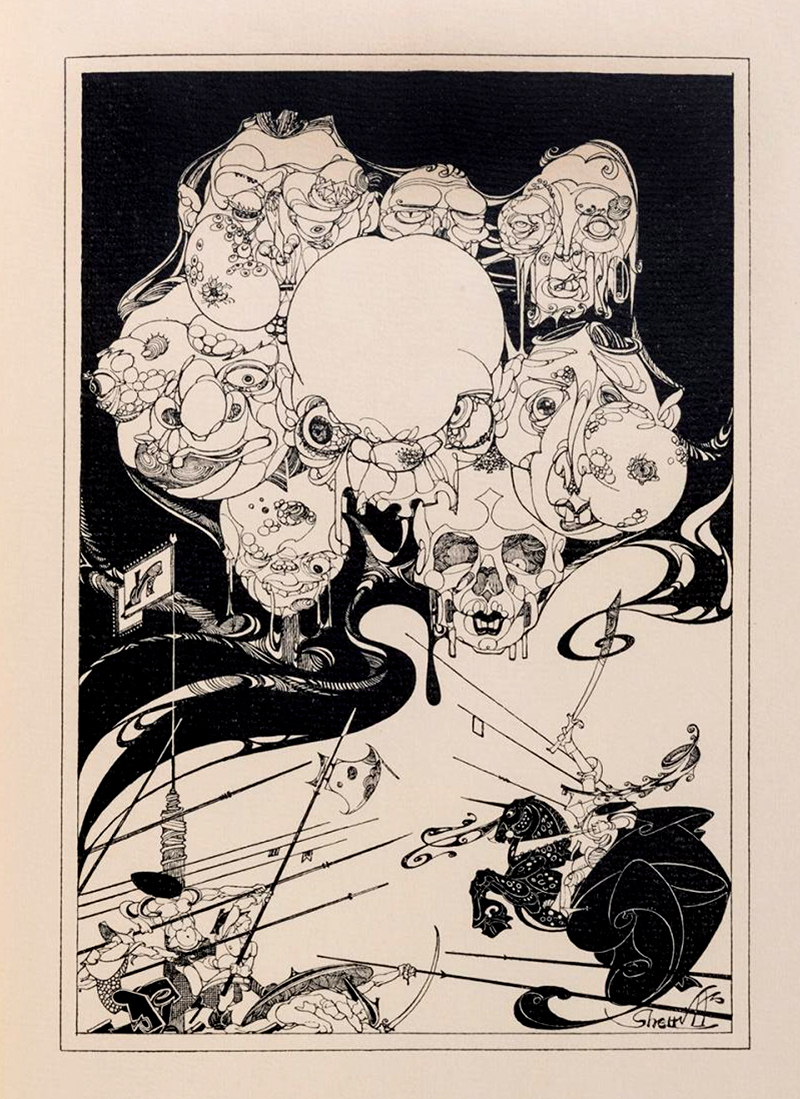 """Robert Stewart Sherriffs - Illustration from """"The Life and Death of Tamburlaine the Great"""" by Christopher Marlowe, 1930, 1"""