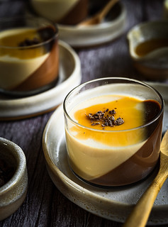 Banoffee milk and chocolate pudding | by michtsang