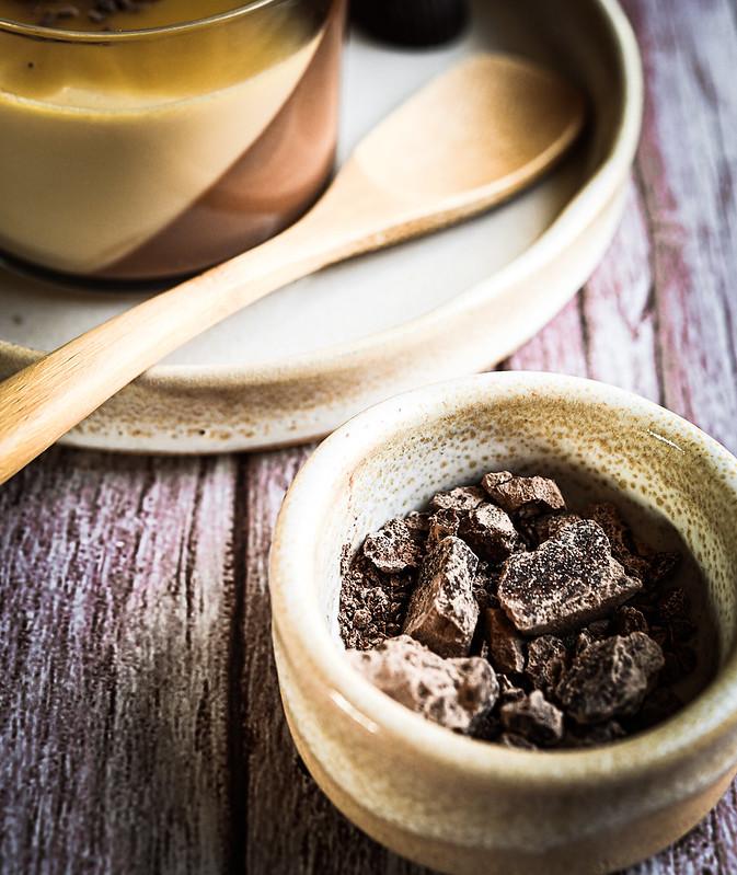 Banoffee milk and chocolate pudding