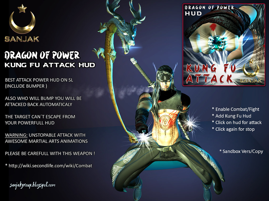 Dragon Of Power Kung Fu Attack Hud Sanjak AD