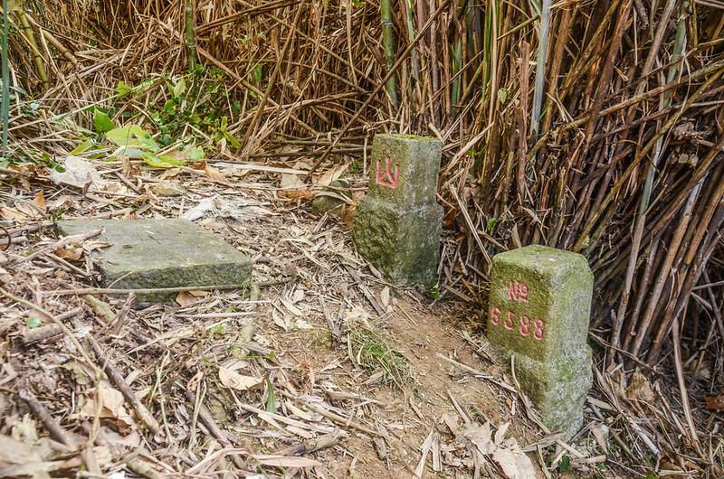 遠藤山三等三角點(# 6588 Elev. 1333 m)、冠字次寺(01)山字森林三角點及基盤
