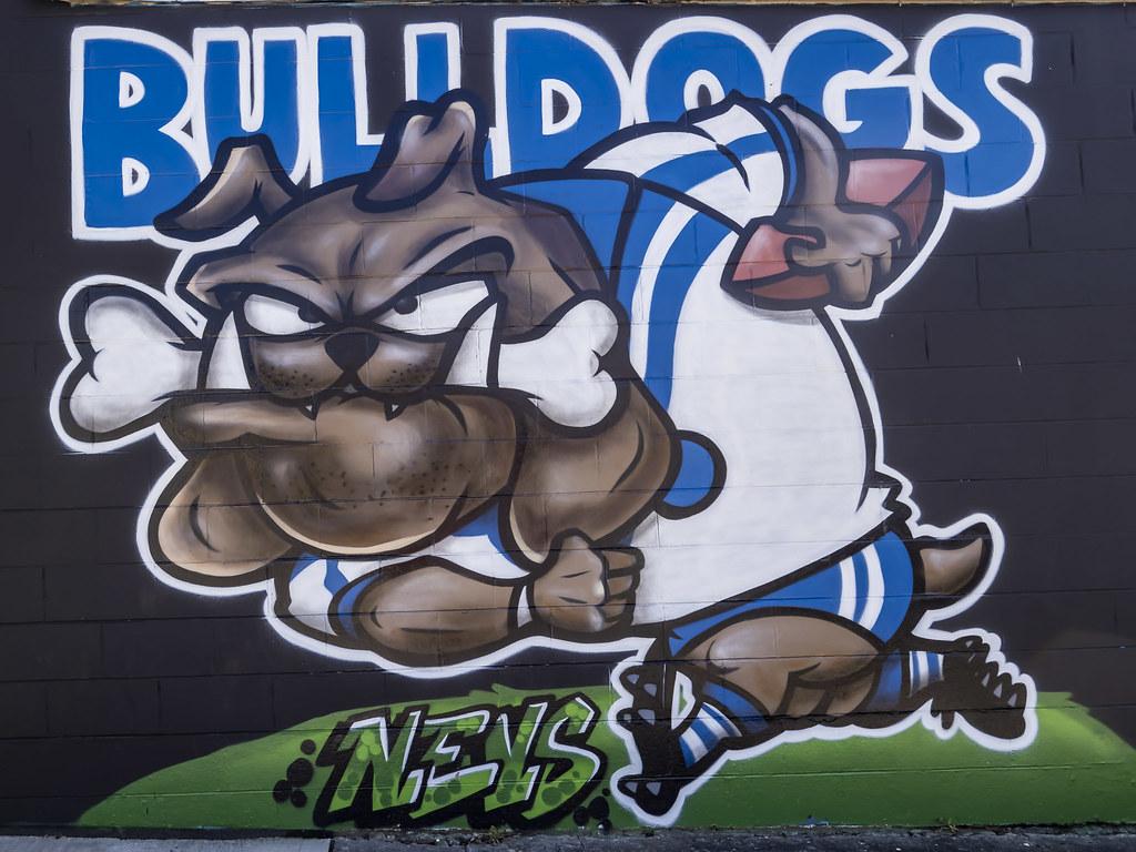 Bulldogs Street Art in Belmore (Sydney - Artist UNK