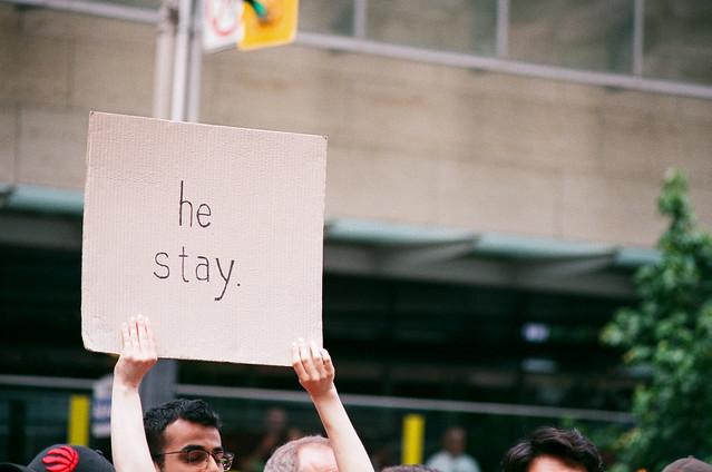 he left.