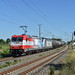 RHC 185 350-6 mit kalter 187, Kesselwagen, kalter 187 520-2 & 185 340-7 Richtung Angermünde