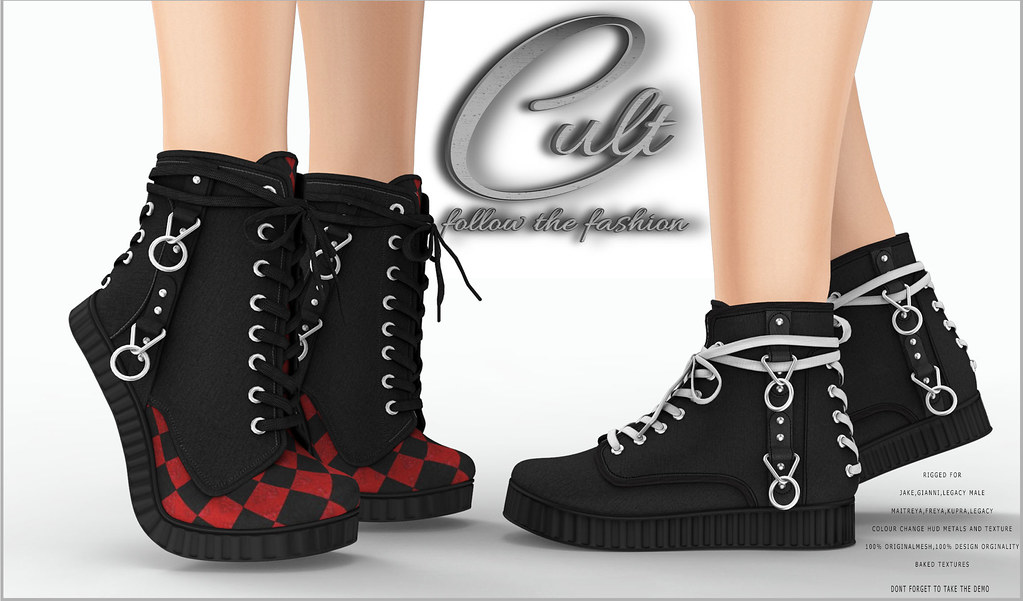 : CULT : Harley Q (Tip Toe) with HUD & : CULT : Sidney Unisex (Flat) with HUD