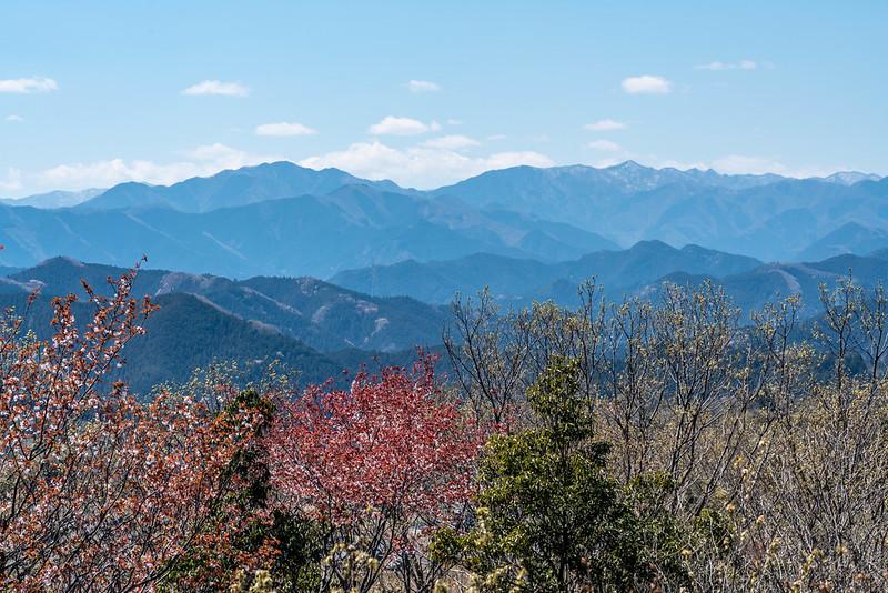 多峯主山から見る奥秩父の山々