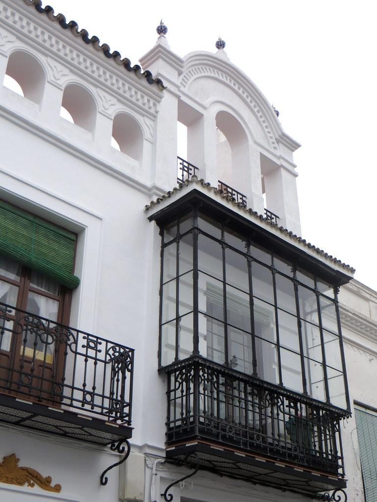Architecture estrémègne, dans les rues de  Llerena, province de Badajoz, Estrémadure, Espagne.