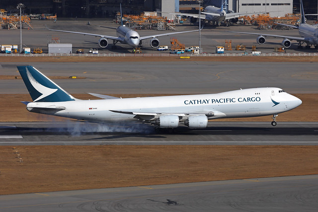 B-LJF, Boeing 747-8F, Cathay Pacific Cargo, Hong Kong