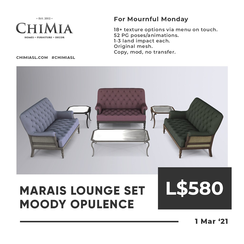 Marais Lounge in Moody Opulence for Mournful Monday by ChiMia