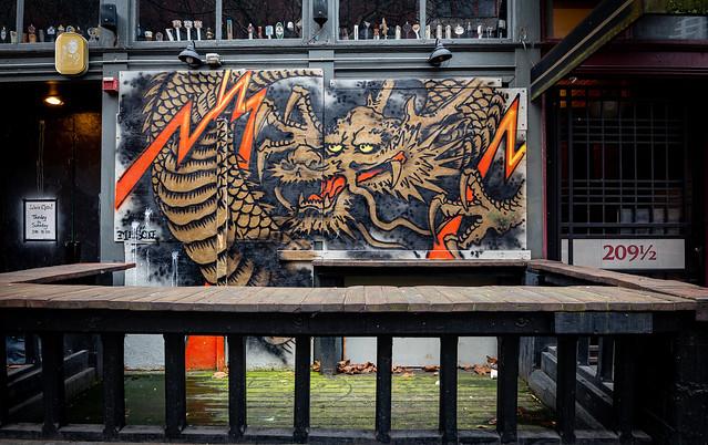 Dragon mural in Seattle