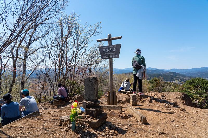 多峯主山の山頂と黒田直邦の墓