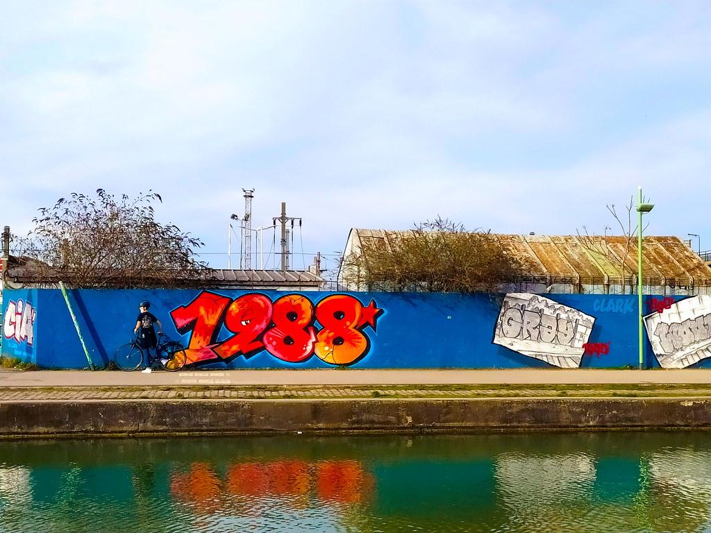 168 - Paris en Février 2021 -  Canal de l'Ourcq à Romainville