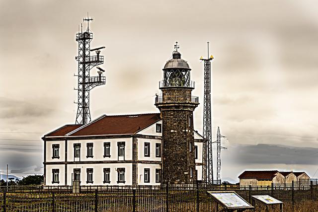 Lighthouse. Praia das Catedrais. Lugo