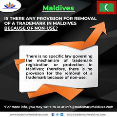 Is there any Provision for Removal of a Trademark in Maldives because of Non-Use