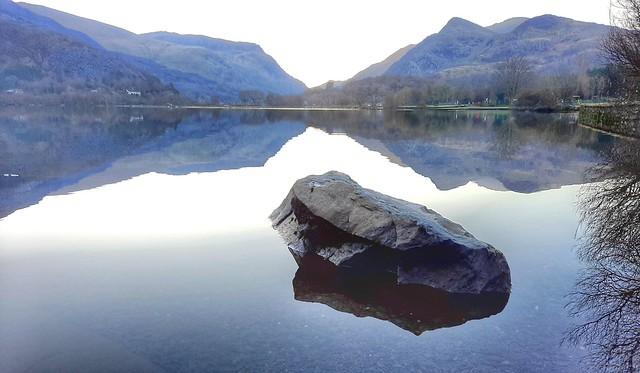 Llyn padarn reflection