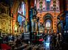 Multiphoto panorama of interior artwork inside the