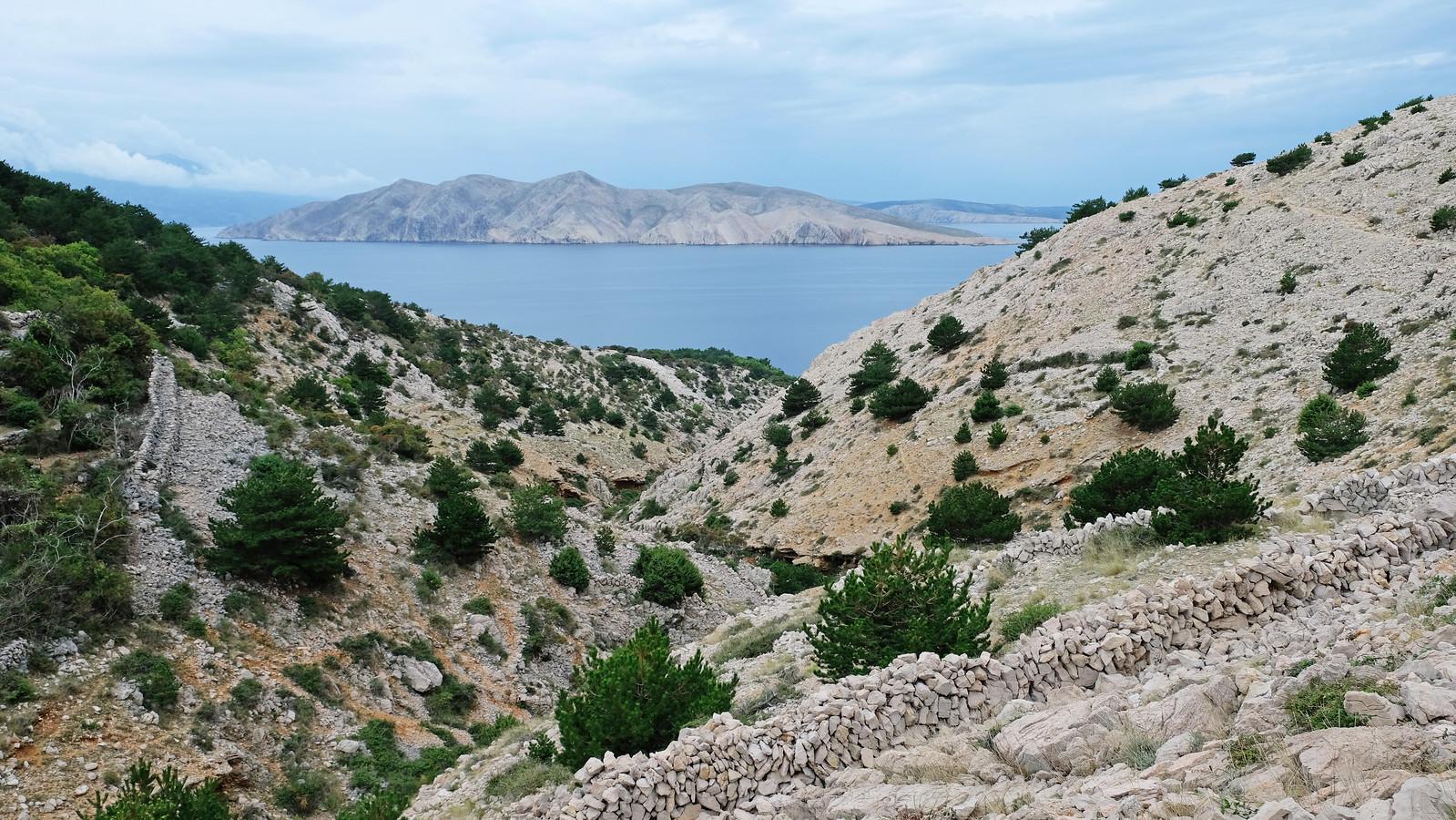 Hiking to Vela Luka, Krk Island, Croatia