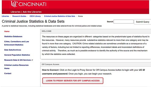 Criminal Justice Statistics and Data Sets