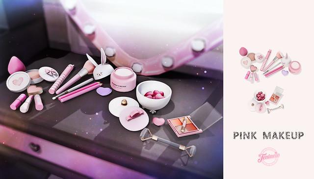 pink makeup ad