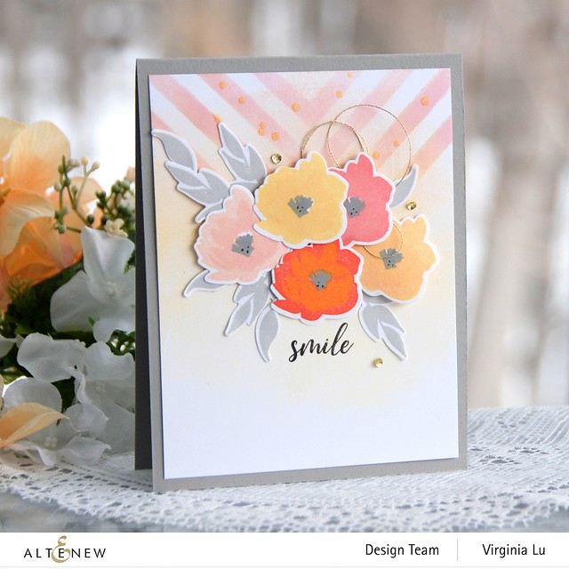 Altenew-MD Smile Blooms-Mighty Corner Stencil -002