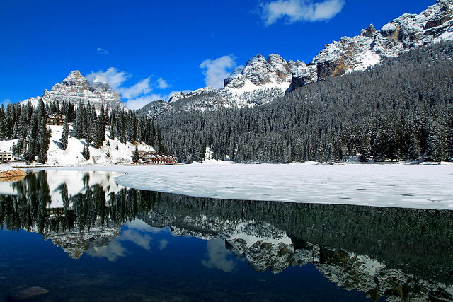 The greatness of the Dolomites and Lake Misurina