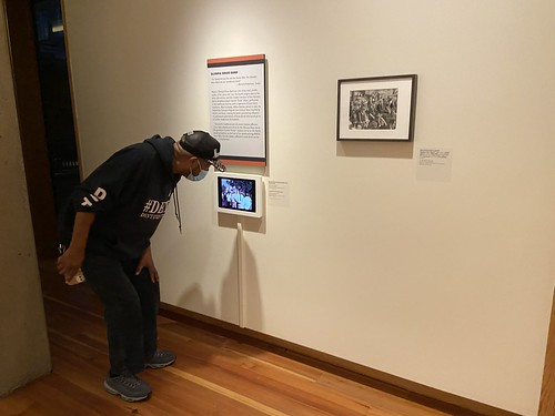 Action Jackson checks out footage of his grandfather in the Historic New Orleans Collection's