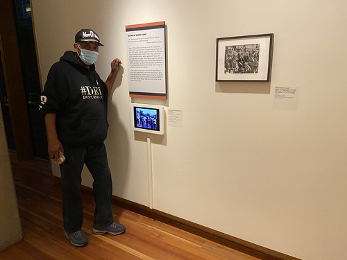 Action Jackson next to the video featuring his grandfather at the