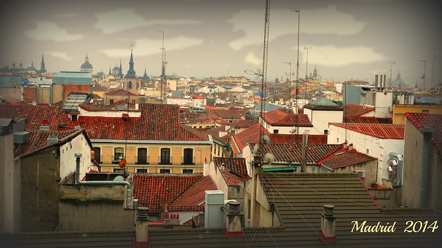 View of rooftops of Madrid from my window