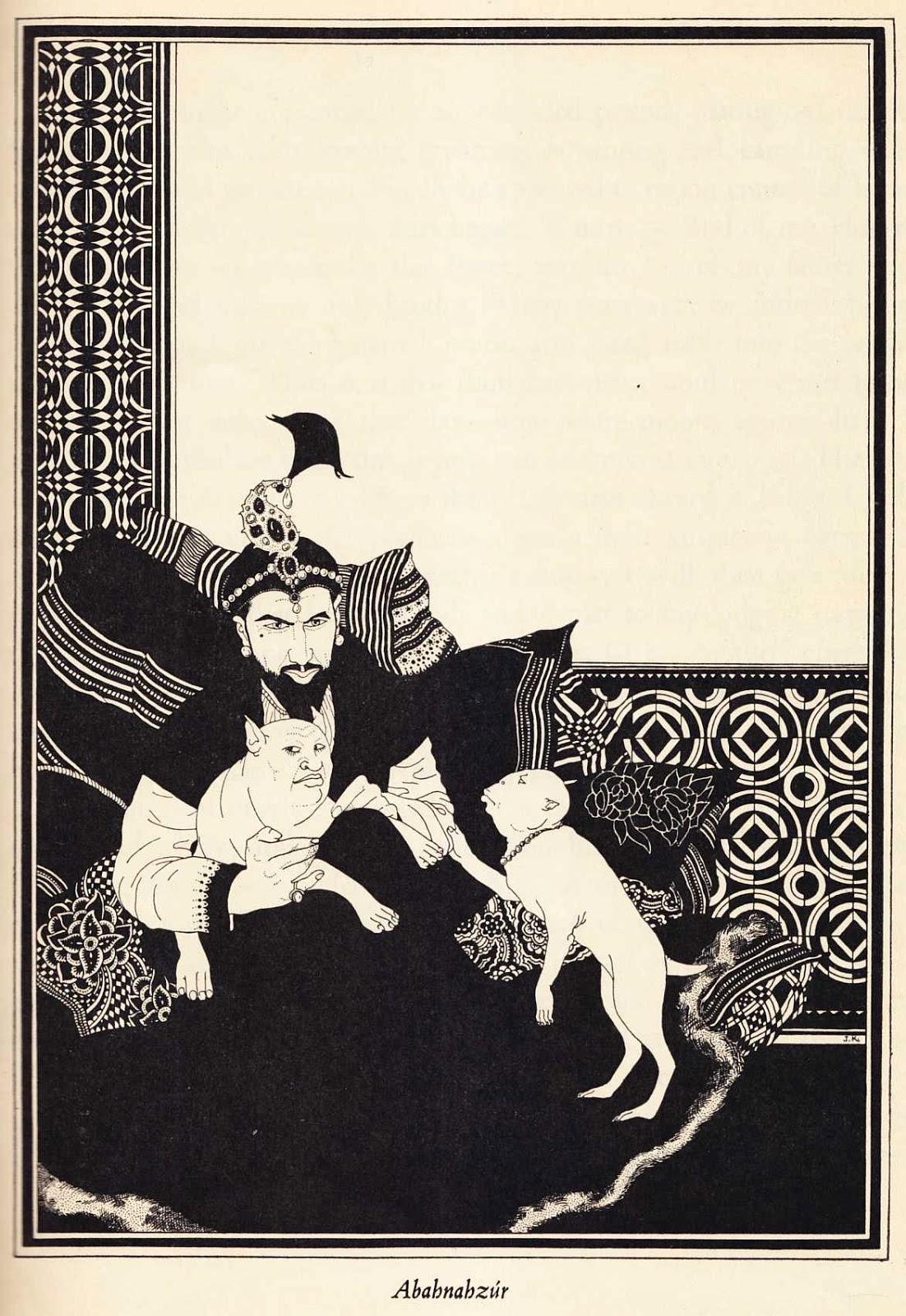 "John Kettelwell - Abahnahzur - Illustration from ""The Story of Aladdin and the Wonderful Lamp,"" 1928"
