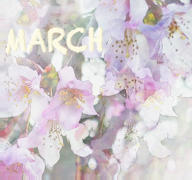 March First Blossomings (AMG March Bookmark)