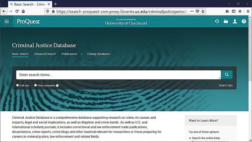 ProQuest Criminal Justice