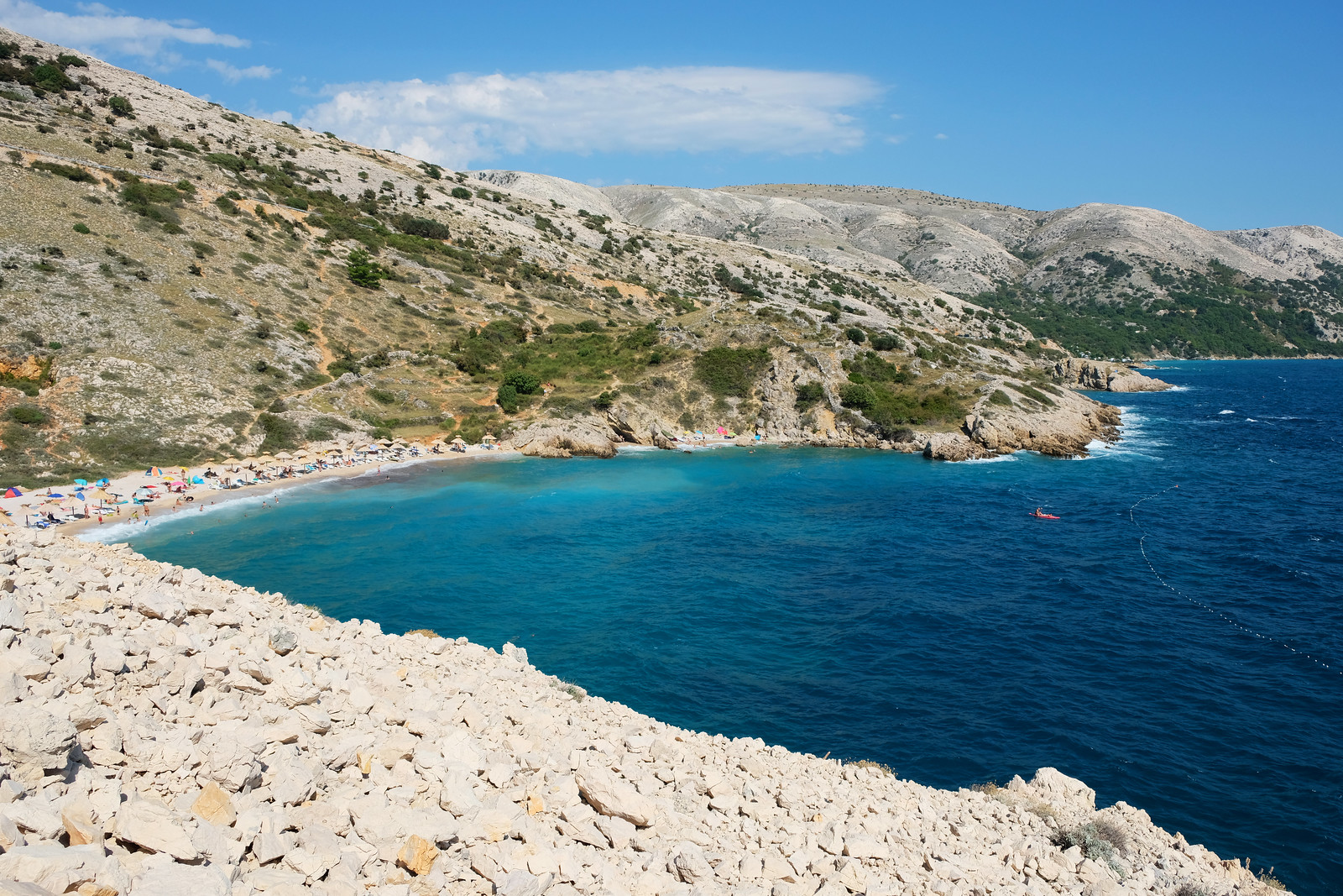 Oprna Bay, Krk Island, Croatia