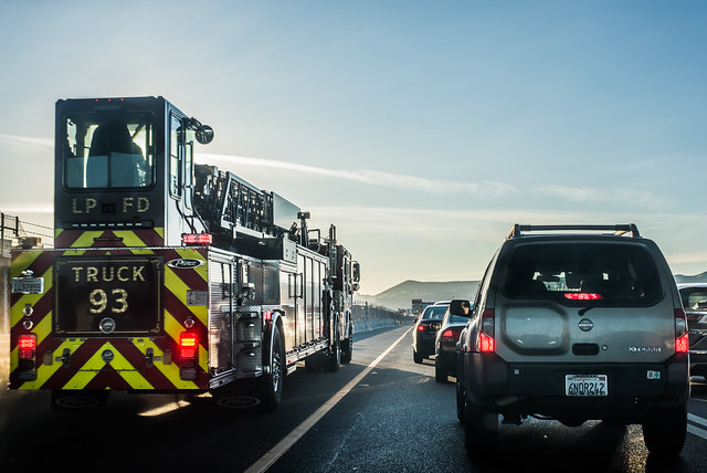 lpfd responds to highway 580 accident injury