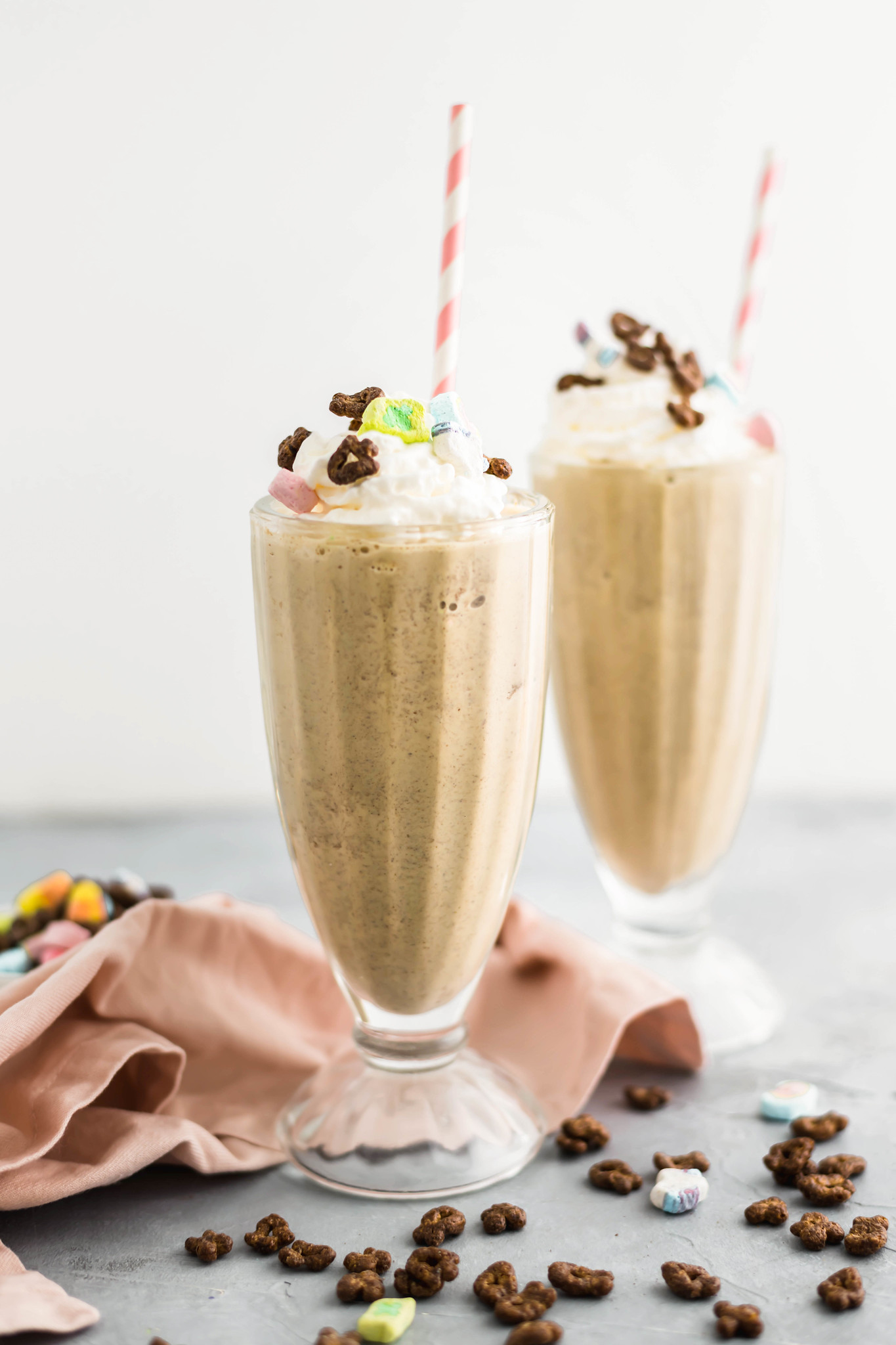 St. Patrick's Day is right around the corner and what better way than to celebrate with a Chocolate Lucky Charms Milkshake. Grab some ice cream, cereal and milk and let's get started.